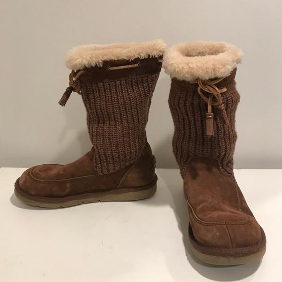 88820e69274 Tan Ugg Knot Boots